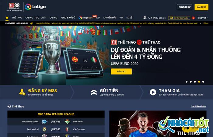 Nhà cái cá độ bóng đá online uy tín M88