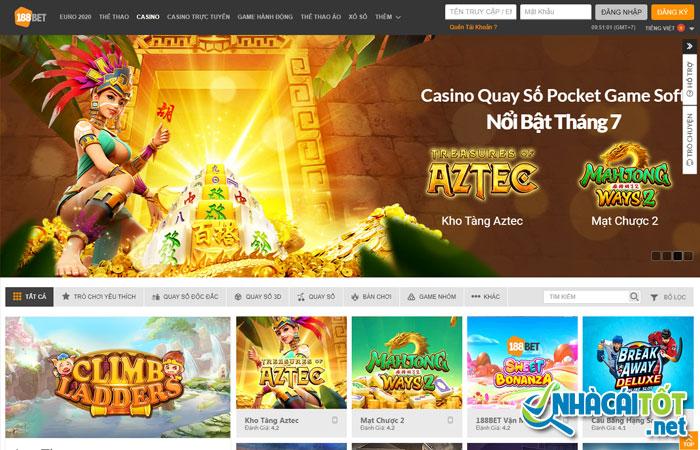 Sàn casino tại nhà cái 188Bet đa dạng trò chơi