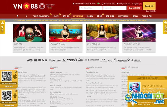 Casino trực tuyến tại nhà cái vn88