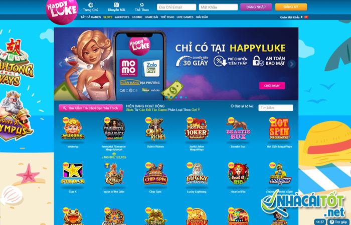 Slot game - Sản phẩm chủ đạo của nhà cái Happy Luke!