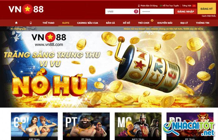 Chơi game nổ hũ trực tuyến tại cổng game vn88