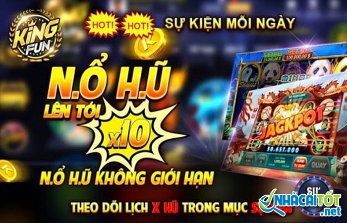 King fun cũng là nhà cái nổi tiếng với game nổ hũ trực tuyến