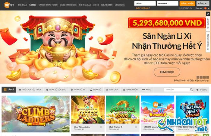 Casino chơi liêng online uy tín 188bet