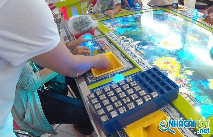 Trò chơi bắn cá ăn xu trong siêu thị