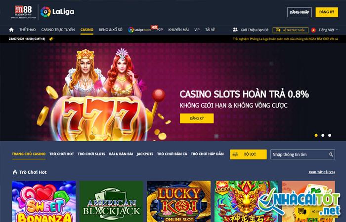 Casino online uy tín M88